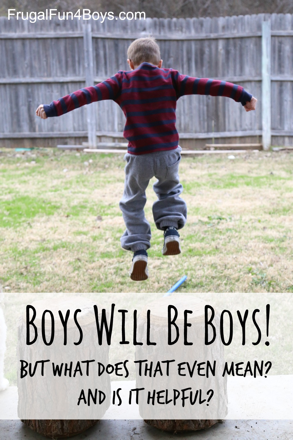 Boys Will Be Boys - And what should we do about that?