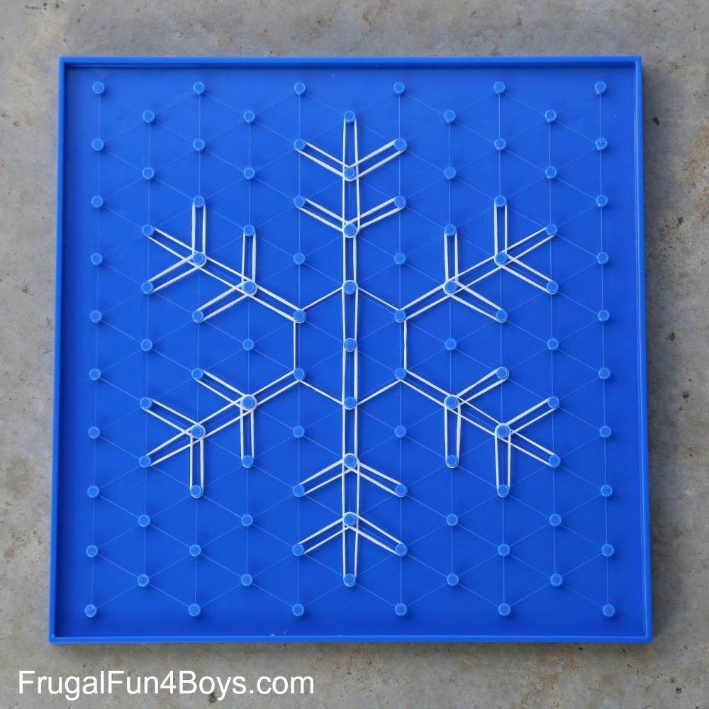 Geoboard Snowflakes