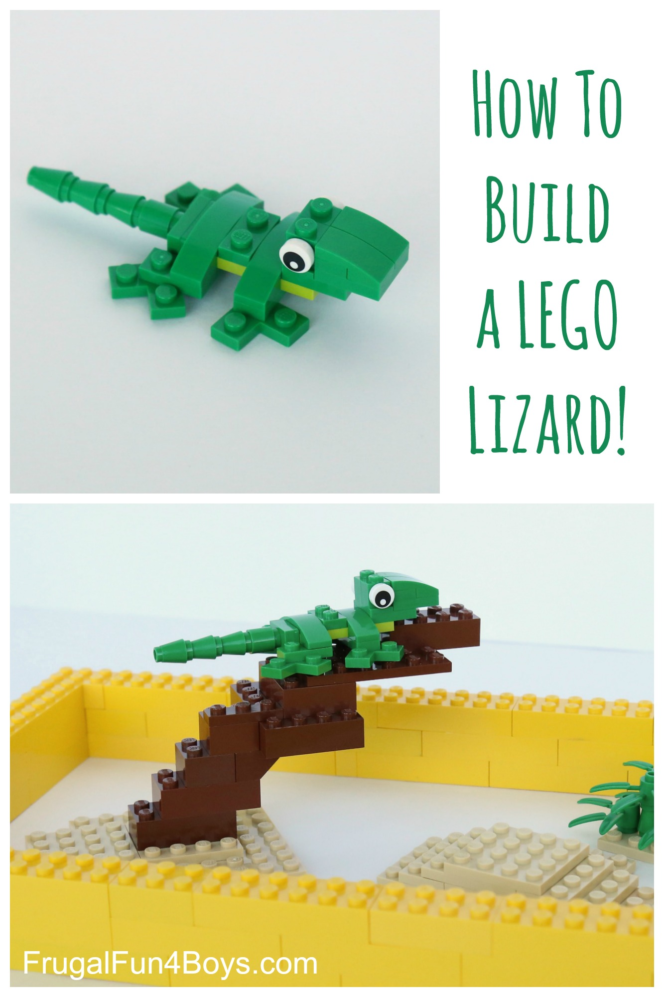 LEGO Lizard Building Instructions