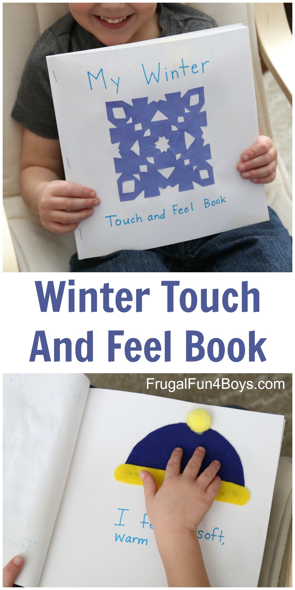 Make a Winter Touch and Feel Book