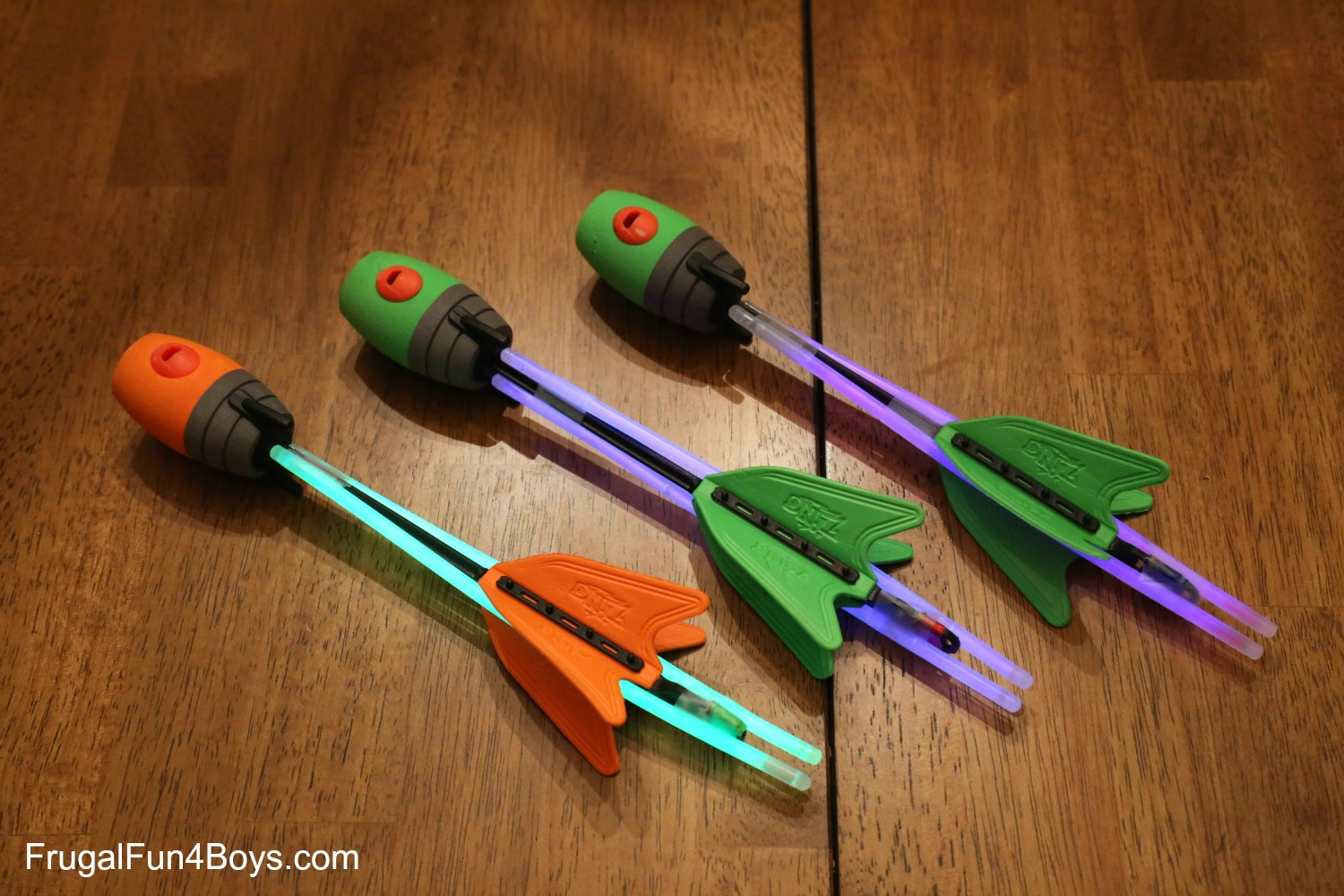 Make Your Own Glow-in-the-Dark Arrows