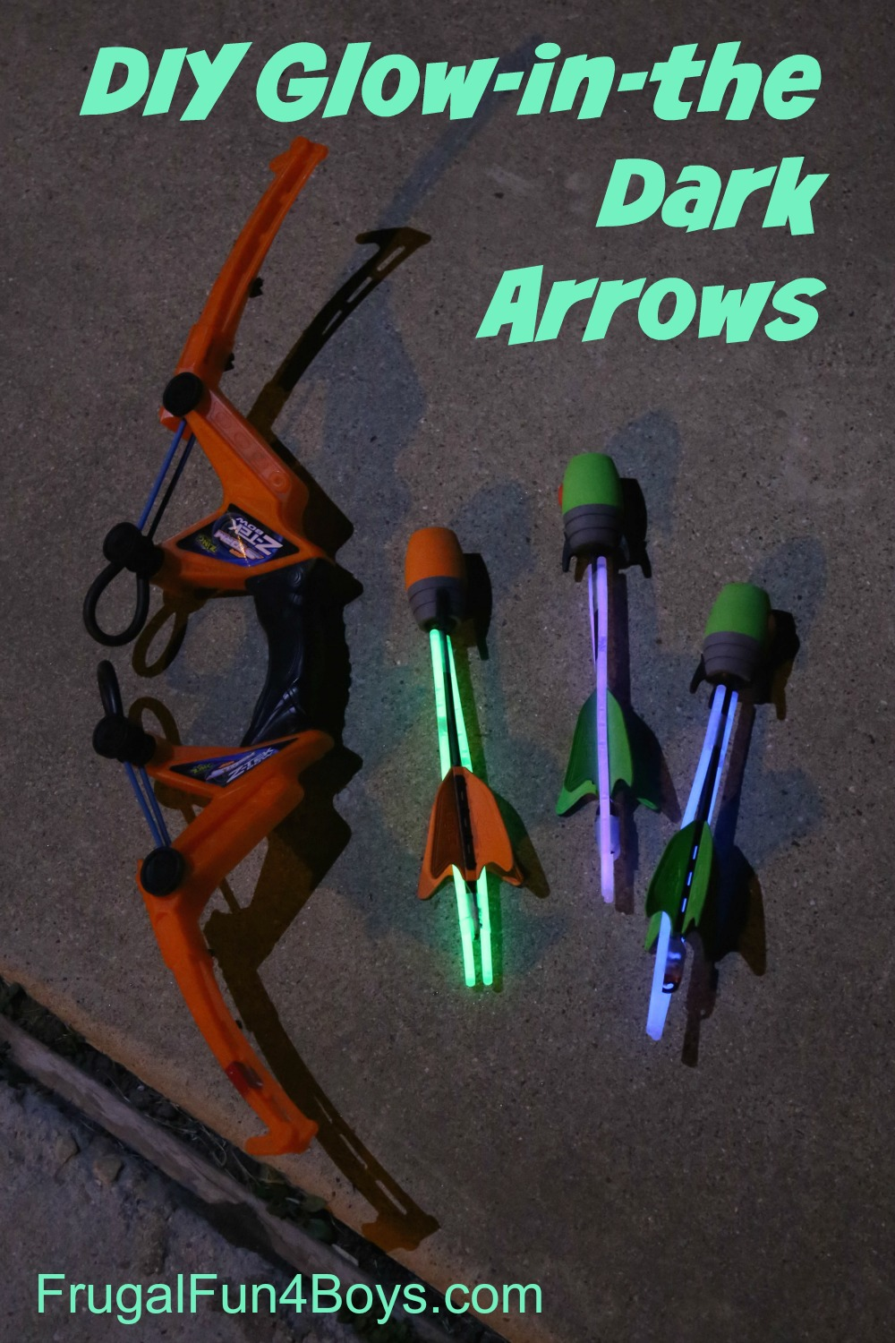 Make Your Own Glow-in-the-Dark Arrows - Works great with a Z Tech bow. Family fun idea!