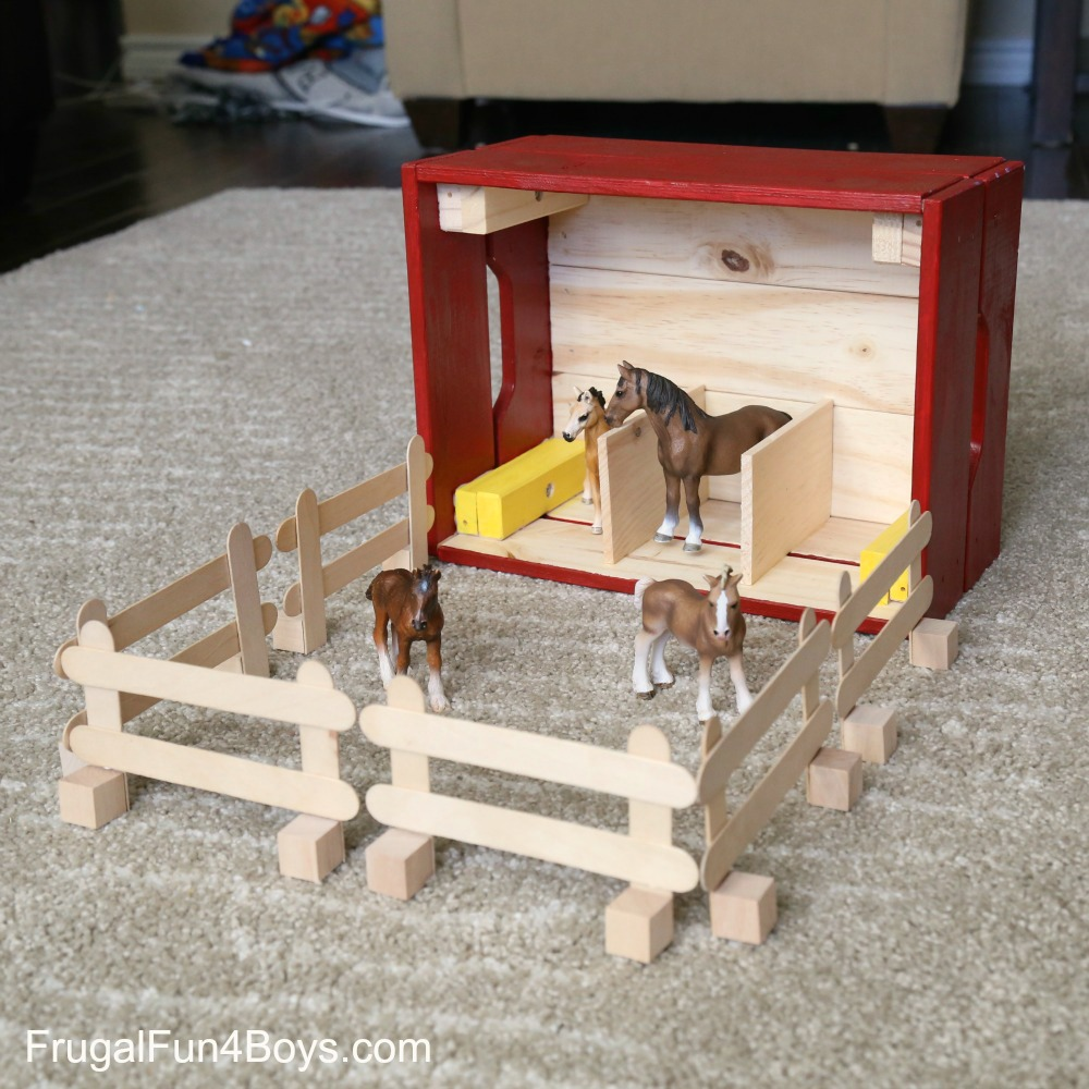 IKEA Crate Horse Stable for Toy Horses