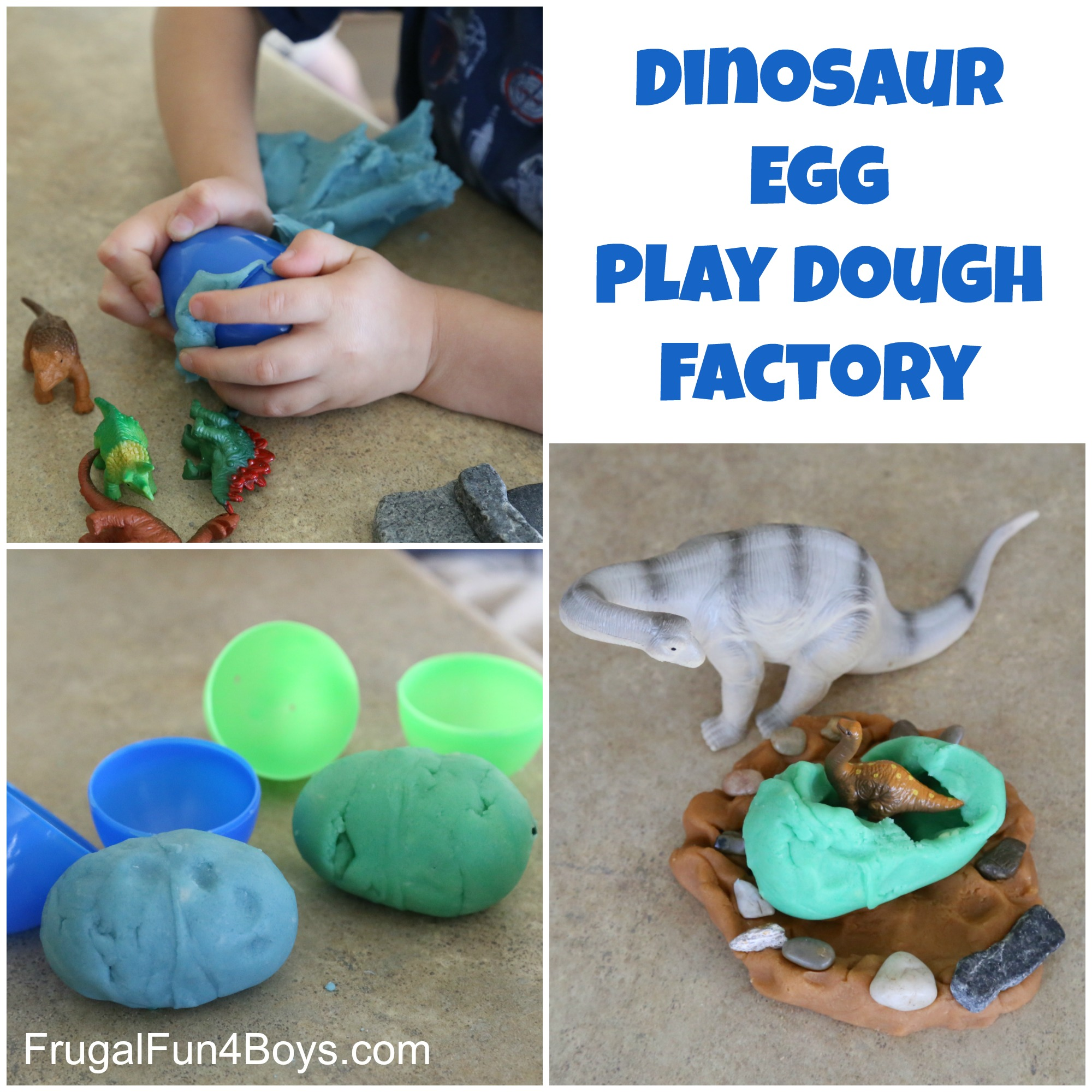 Dinosaur Egg Play Dough Factory