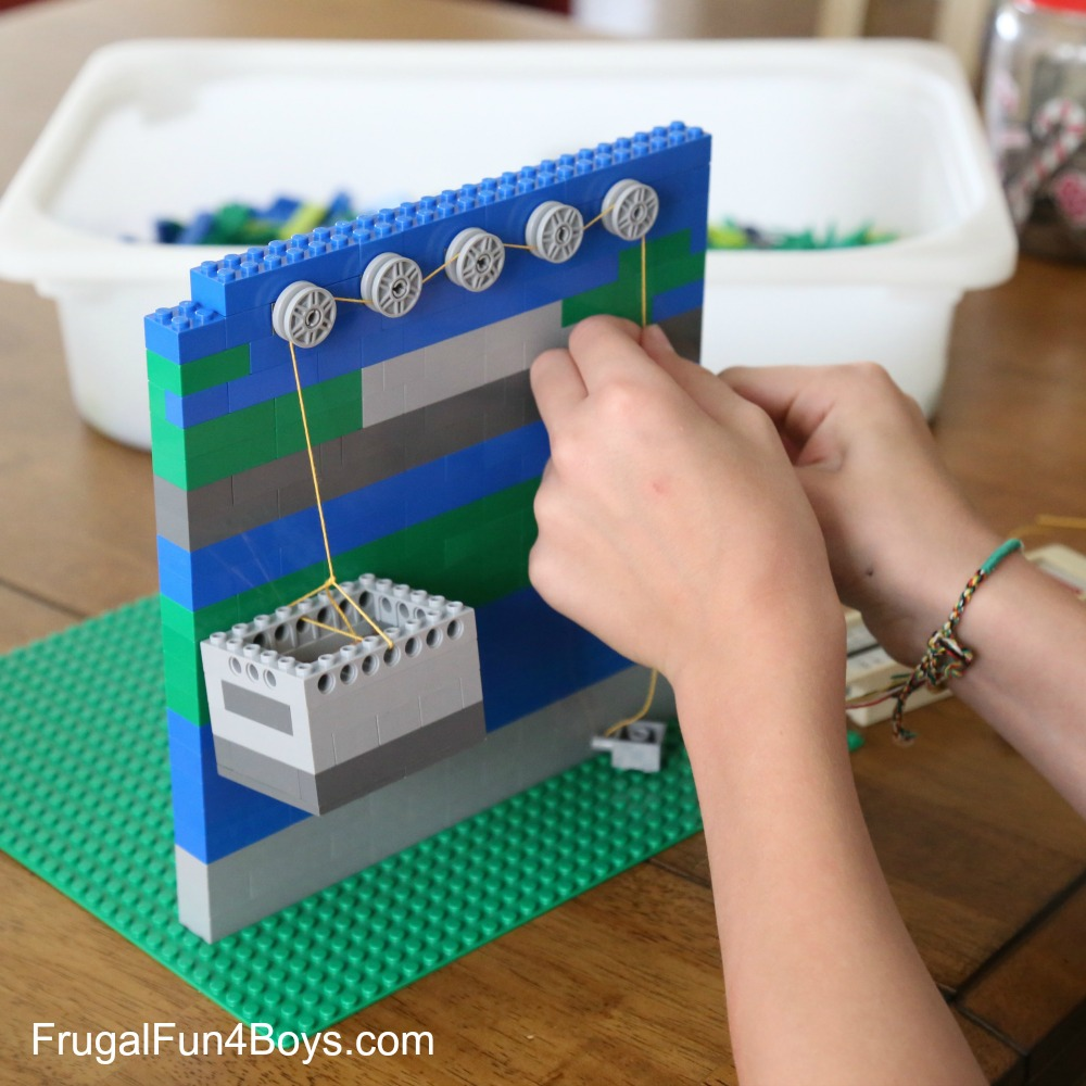 LEGO Pulleys Engineering Challenge for Kids