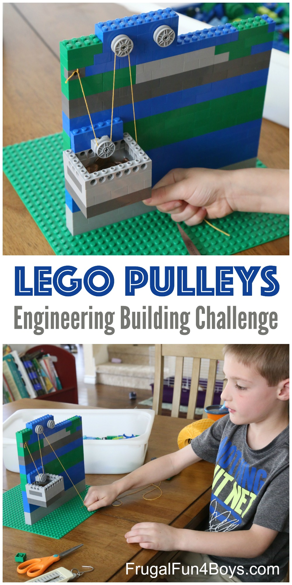 LEGO Pulleys Engineering Building Challenge