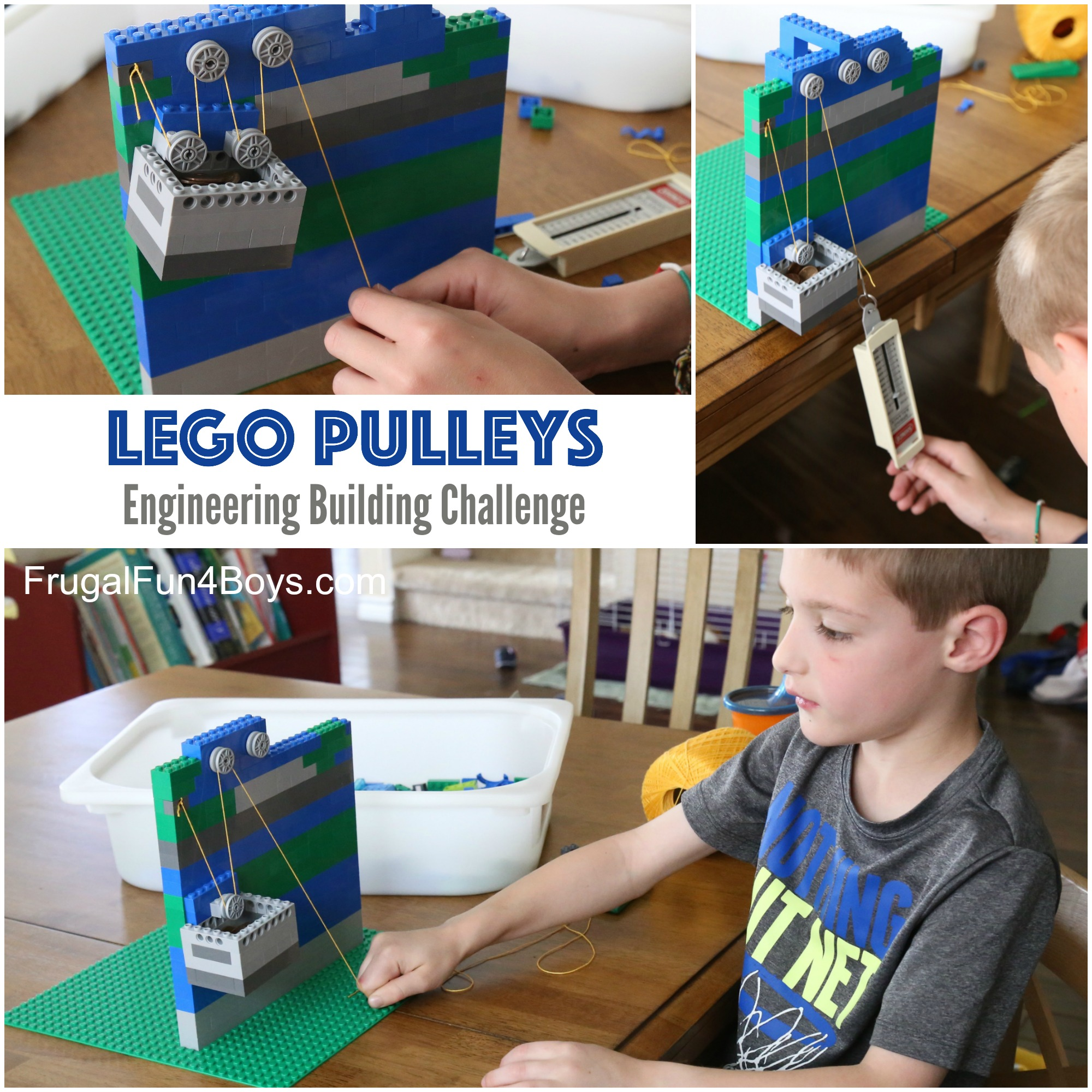 LEGO Pulleys: An Engineering Building Challenge!