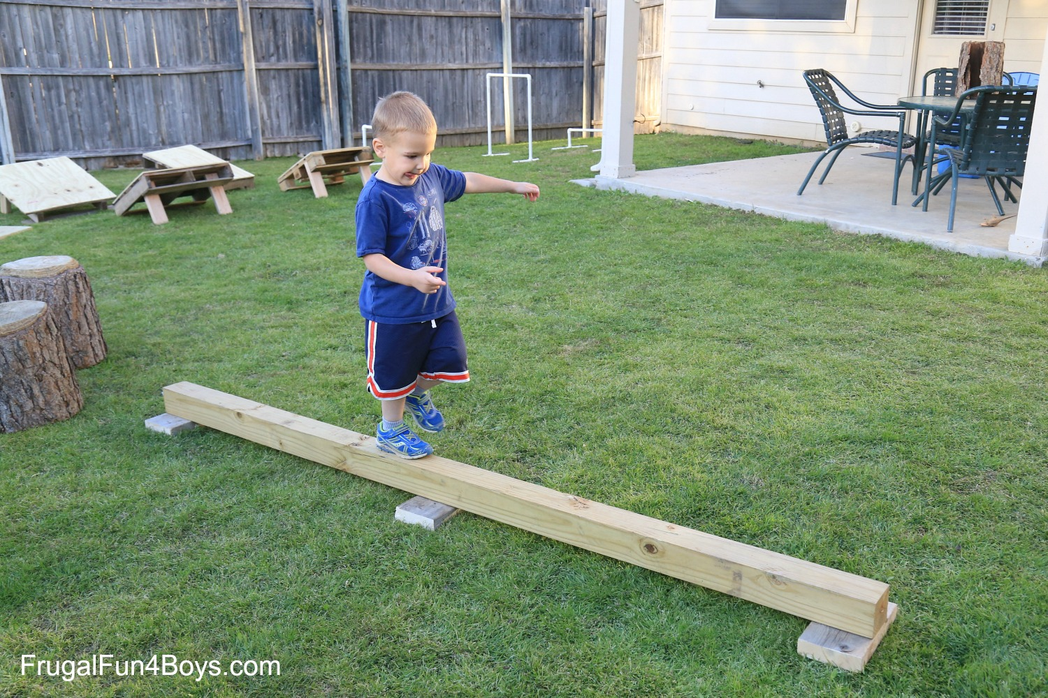 Backyard Obstacle Course - American Ninja Style!