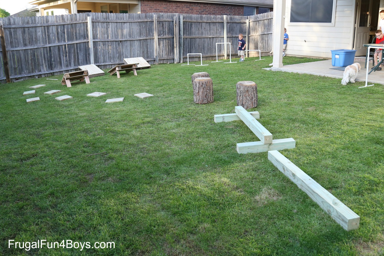 Backyard Obstacle Course - American Ninja Warrior Style! Can be rebuilt different ways.
