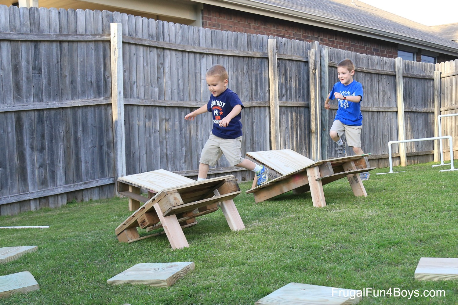 Backyard Obstacle Course - American Ninja Warrior Style!