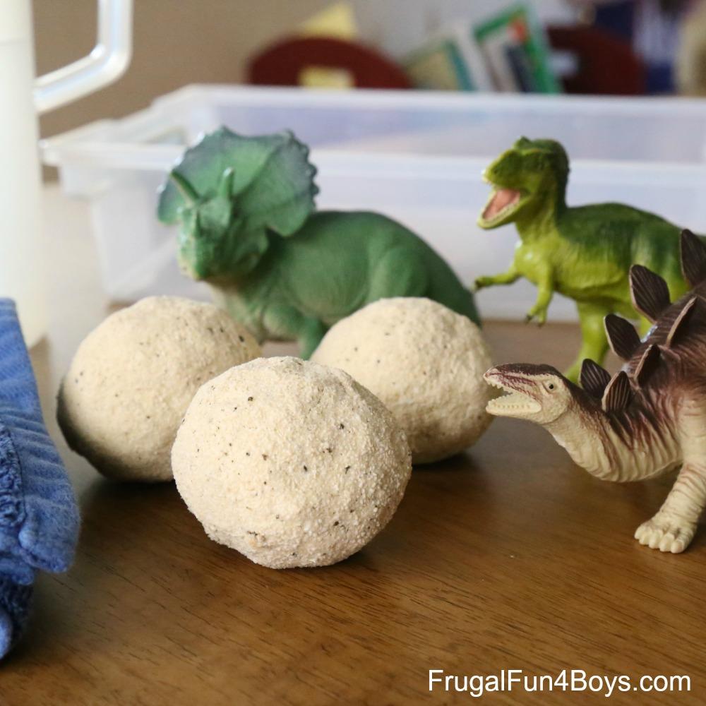 Fizzing Dinosaur Eggs - Sensory Play