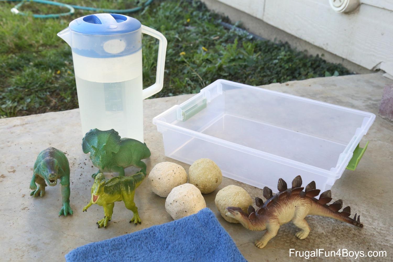 Fizzing Dinosaur Eggs - Sensory Play!