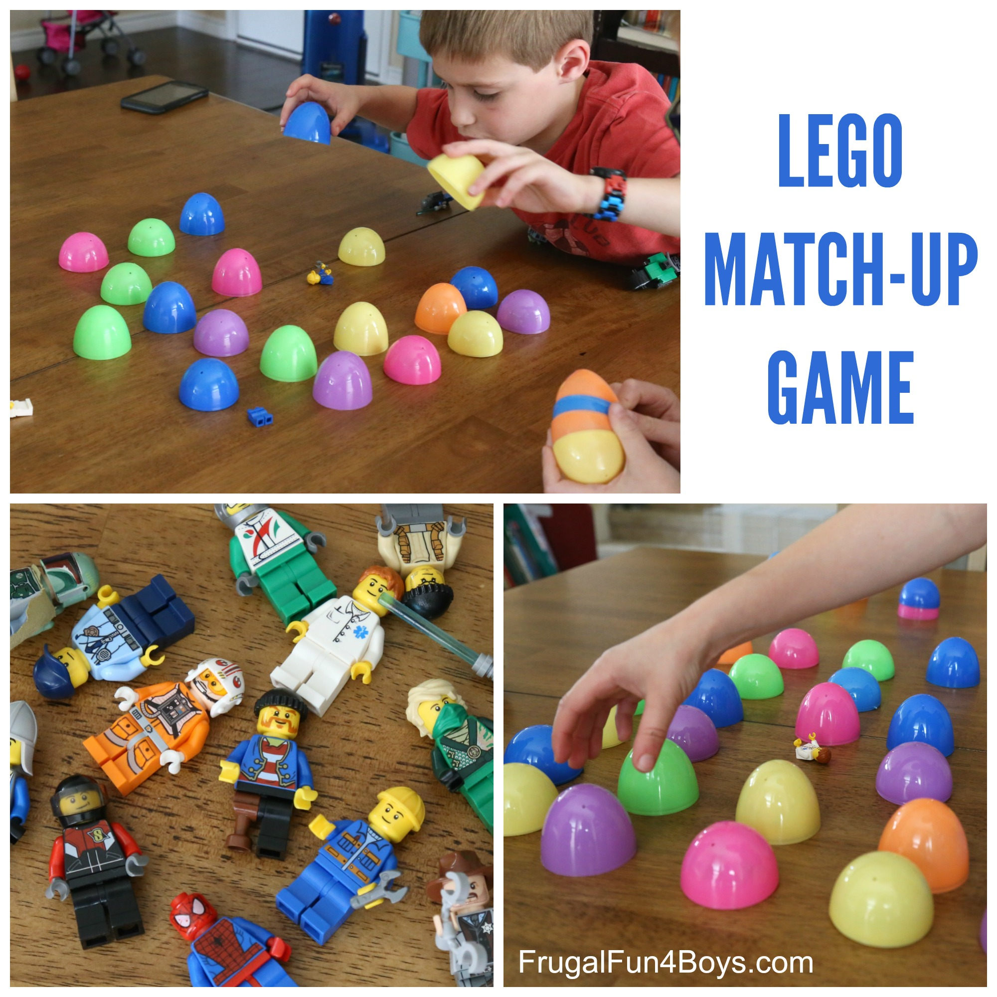 LEGO Minifigure Memory Game with Plastic Eggs