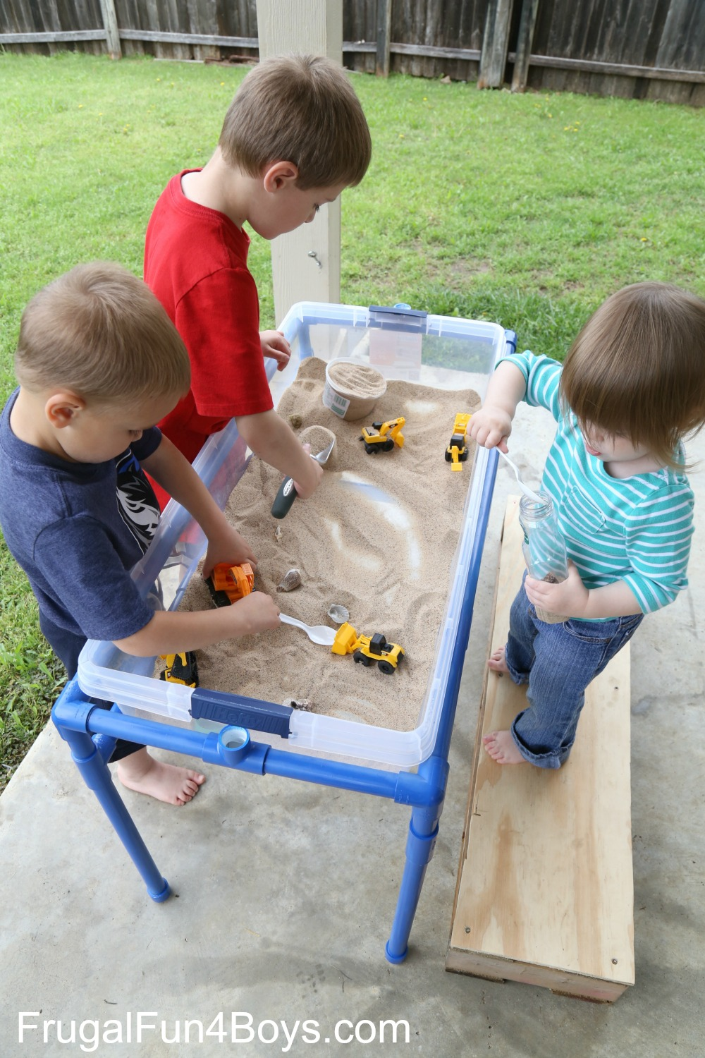 How To Make A Pvc Pipe Sand And Water Table Frugal Fun For