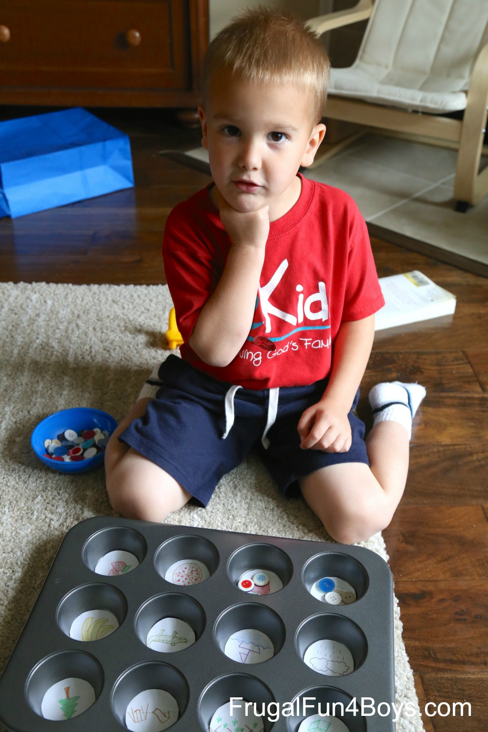 Muffin Tin Syllable Counting Activity