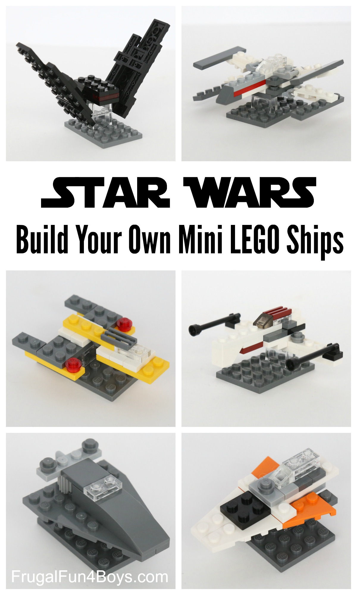 How to Build Mini Star Wars LEGO Ships