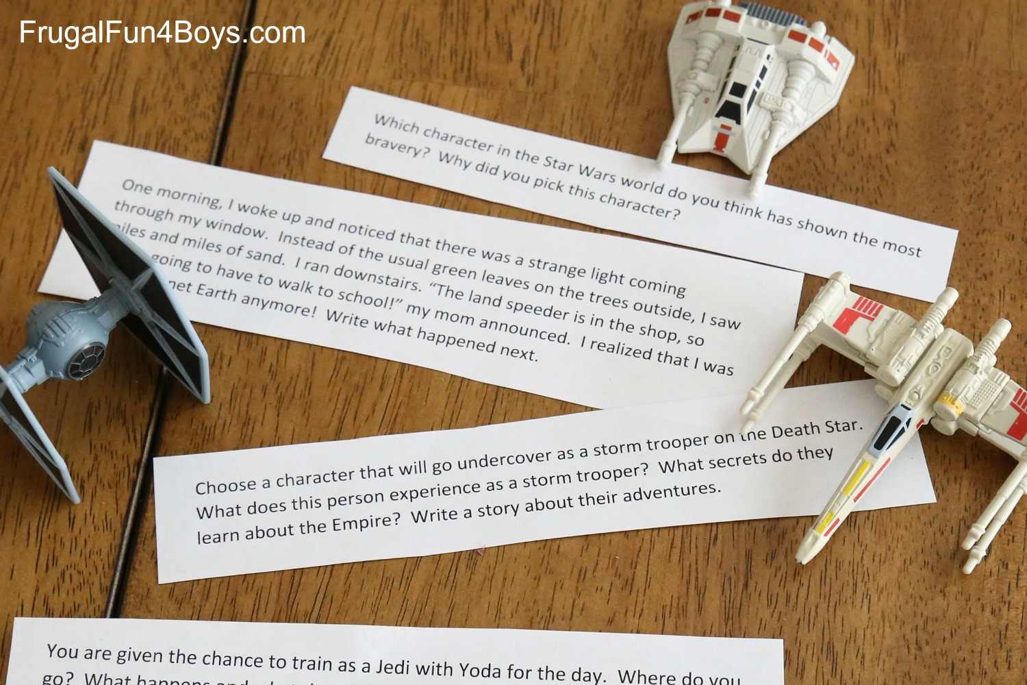 Star Wars Printable Writing Prompts for 3rd-6th Graders