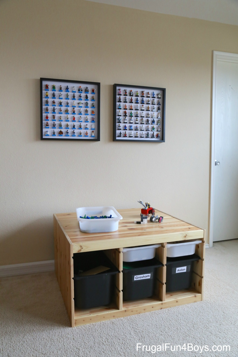 LEGO Minifigure Display with IKEA Frames