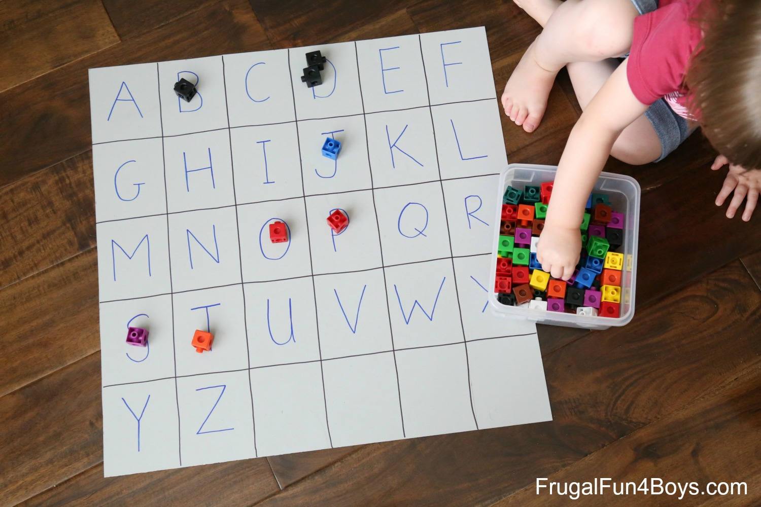 Four Simple Alphabet Games for Preschoolers