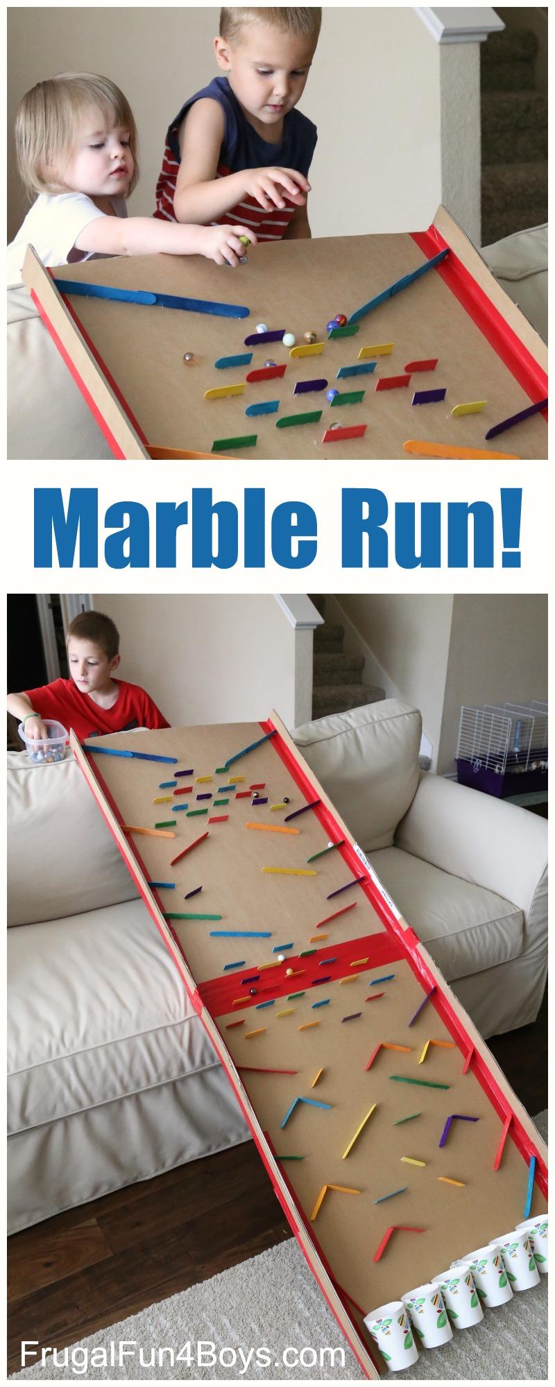 Build an Epic Cardboard Marble Run