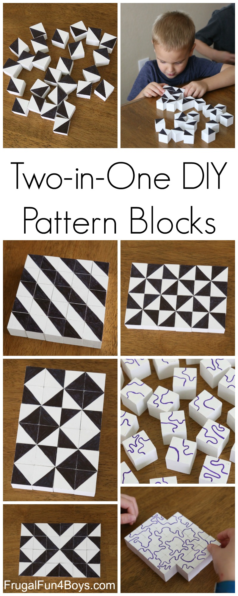 Two-in-One DIY Pattern Blocks for STEM Learning and Play