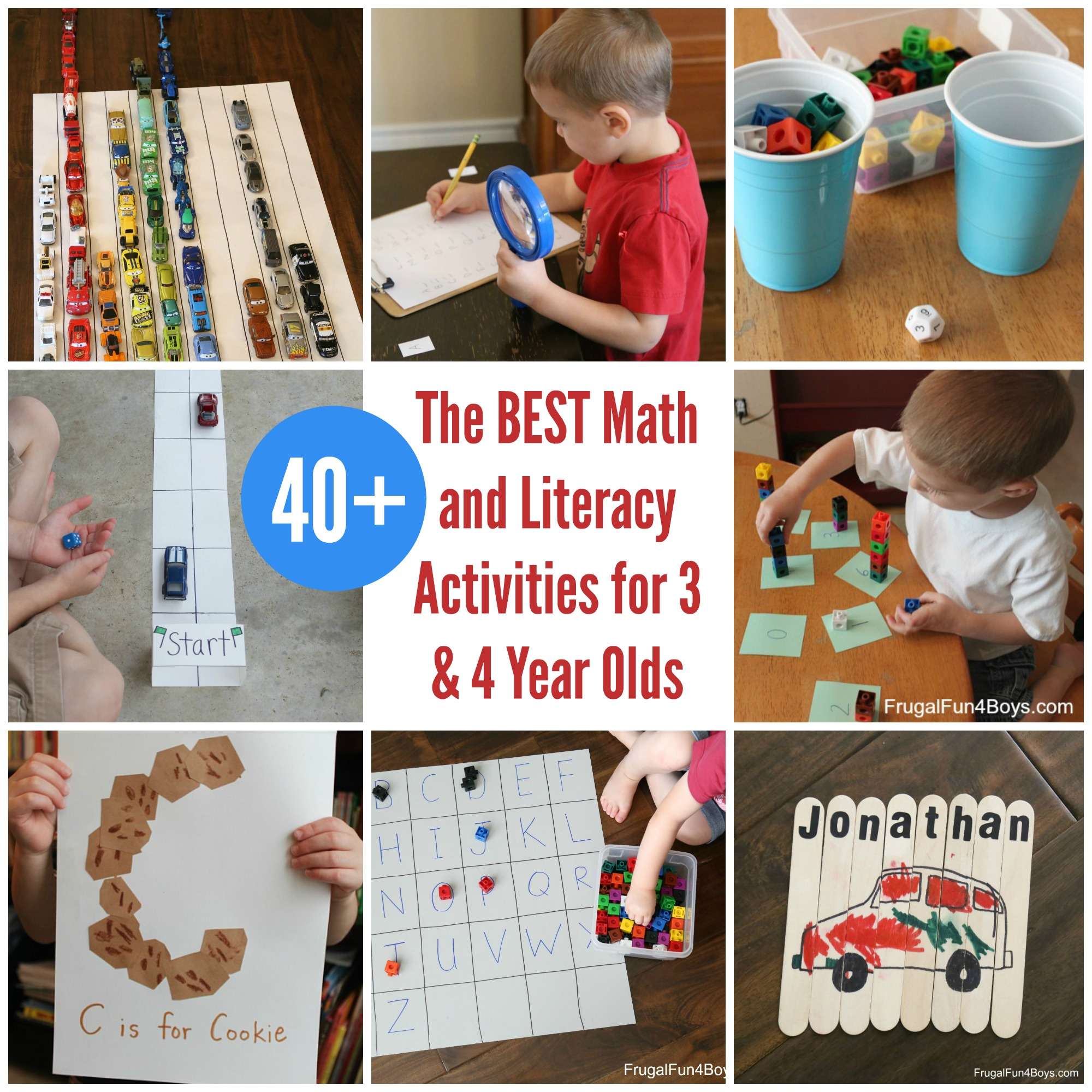 The BEST Math and Literacy Activities for Preschoolers - 3 & 4 Year Olds