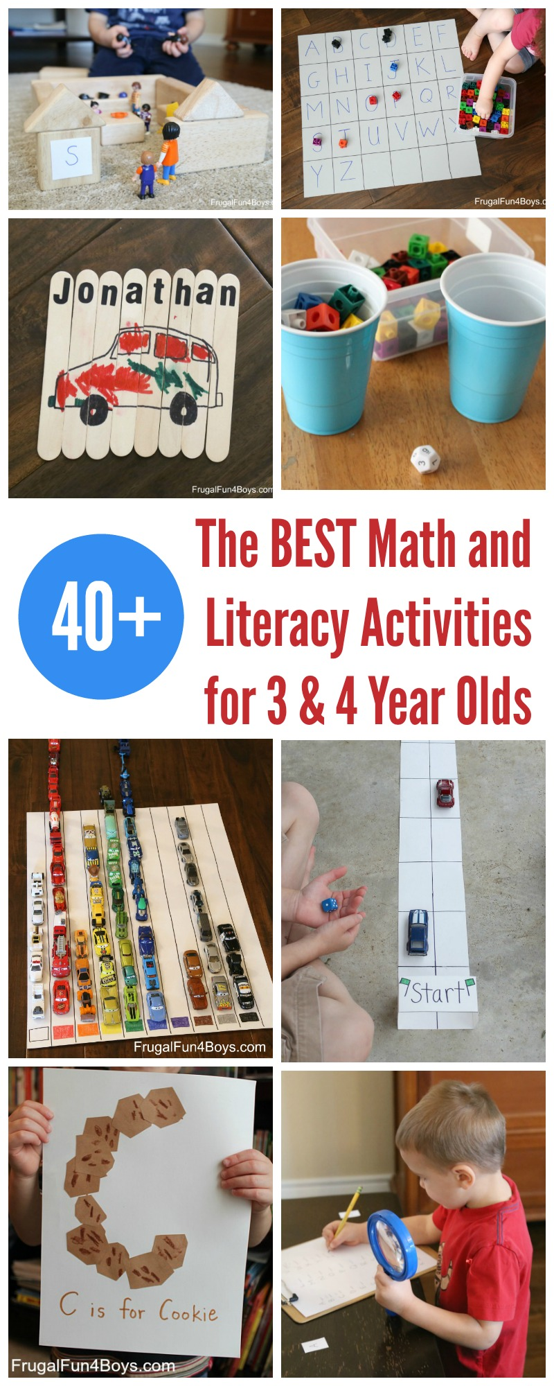 40+ of the BEST Math and Literacy Activities for Preschoolers 3 & 4 Year Olds