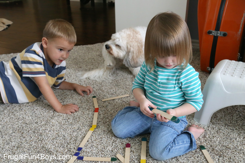 Craft Stick Color Dominos
