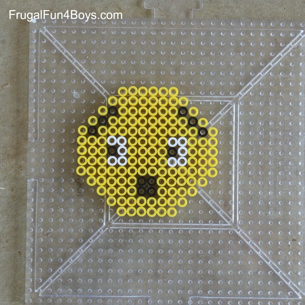 Emoji Perler Bead Keychain Designs