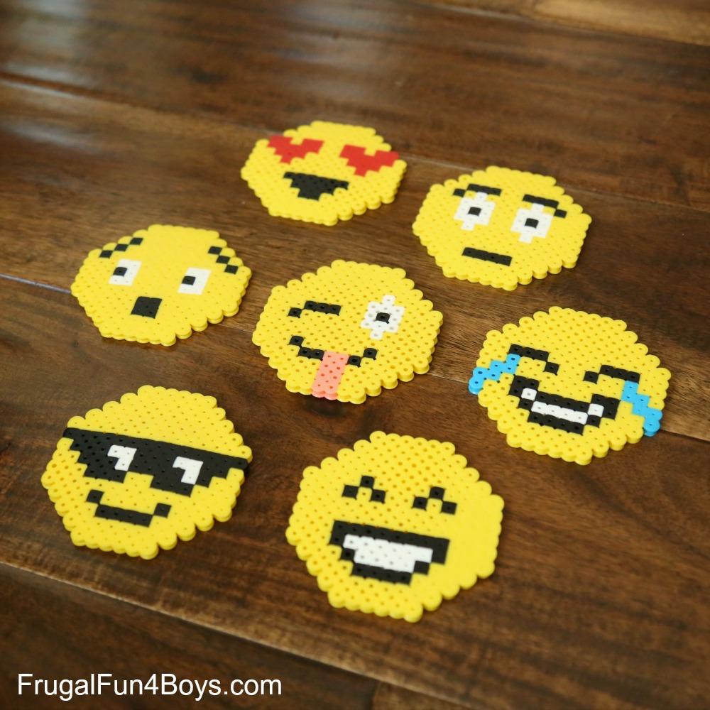 Emoji Perler Bead Keychains