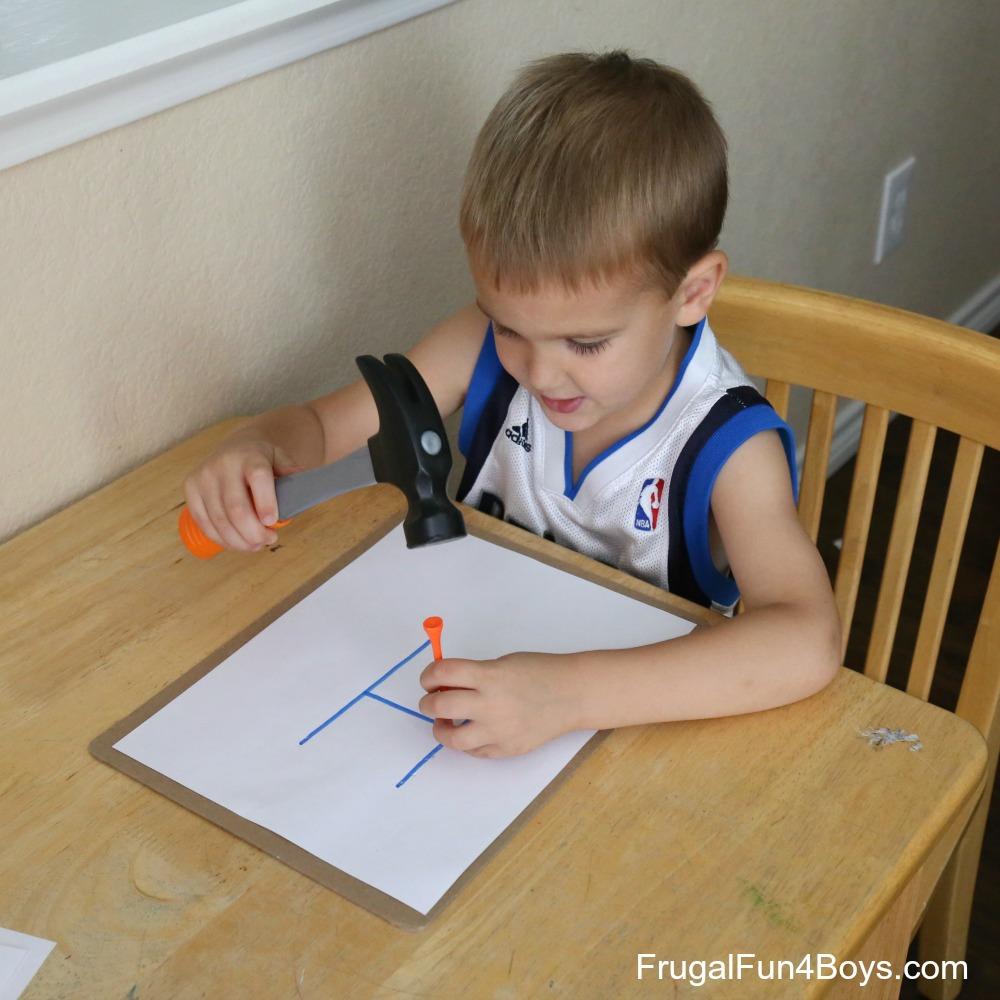 Hammer the Alphabet!  Preschool Letter Learning Activity