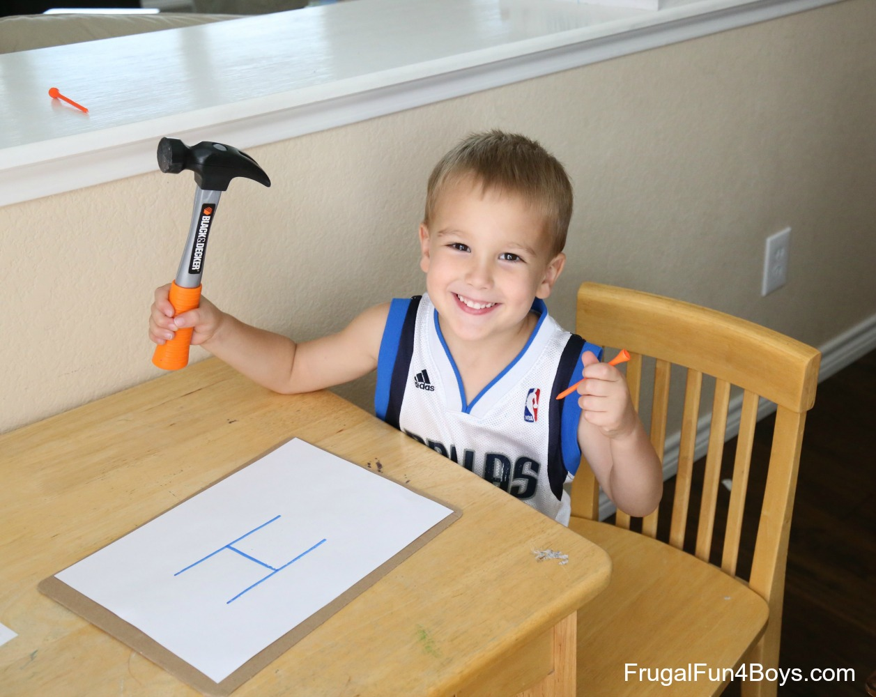 Hammer the Alphabet!  Preschool Alphabet Activity
