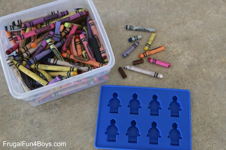 Recycle Broken Crayons into LEGO Crayons