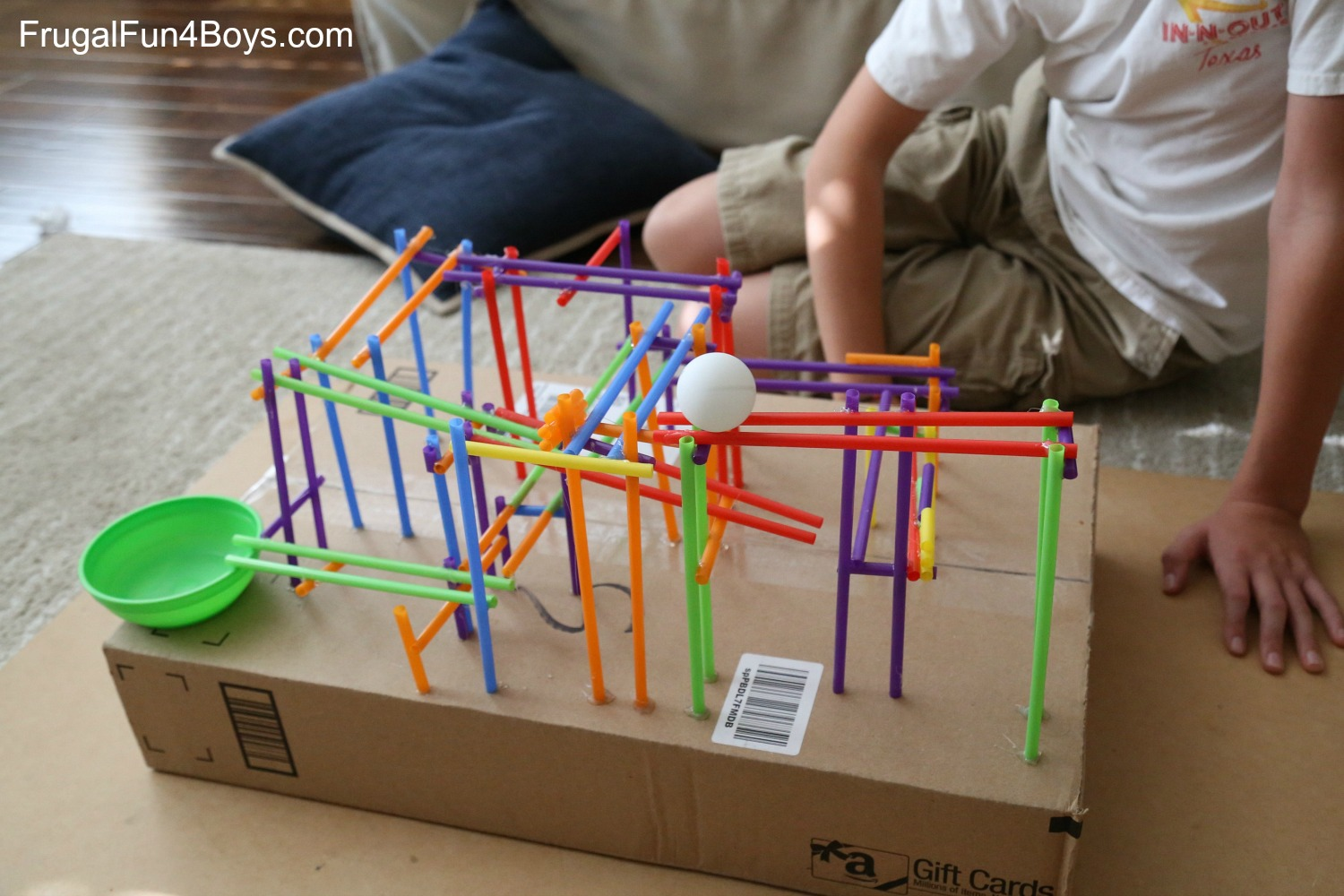 STEM Challenge for Kids: Build a Straw Coaster