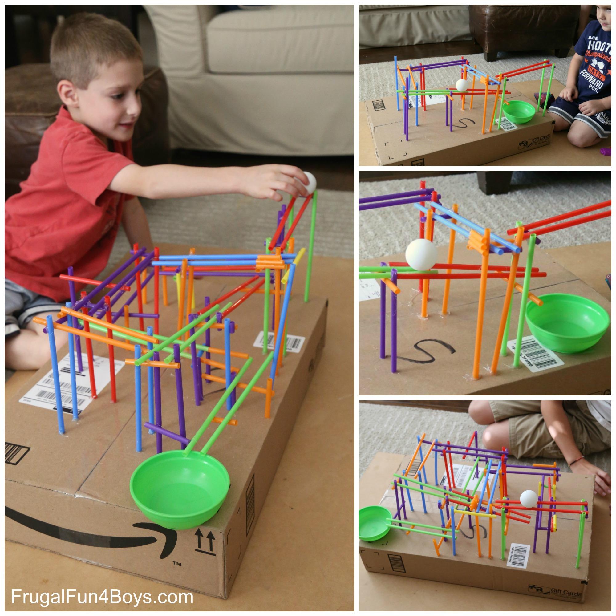 STEM Challenge for Kids: Build a Straw Roller Coaster