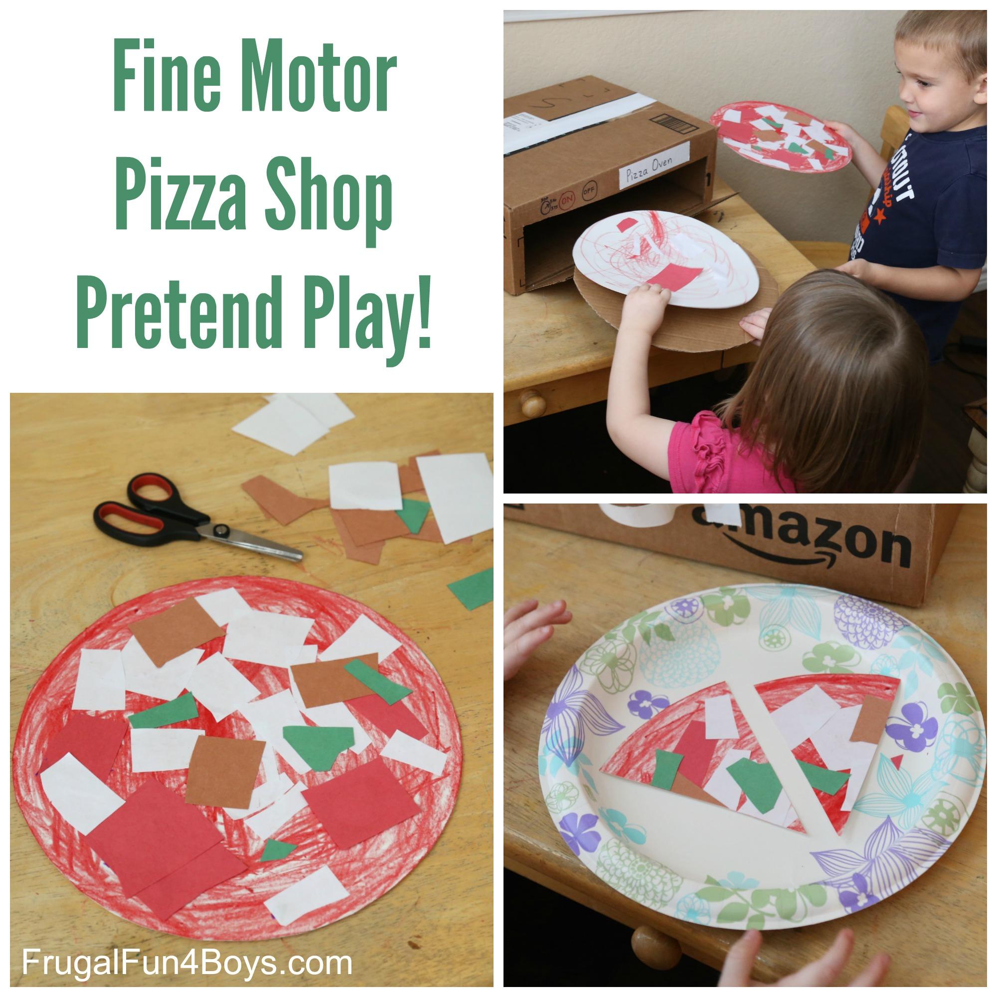 Pizza Shop Pretend Play Fine Motor Activity