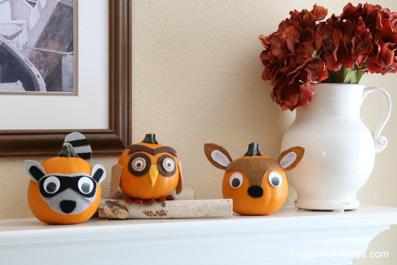 Woodland Animal Pumpkins Fall Craft