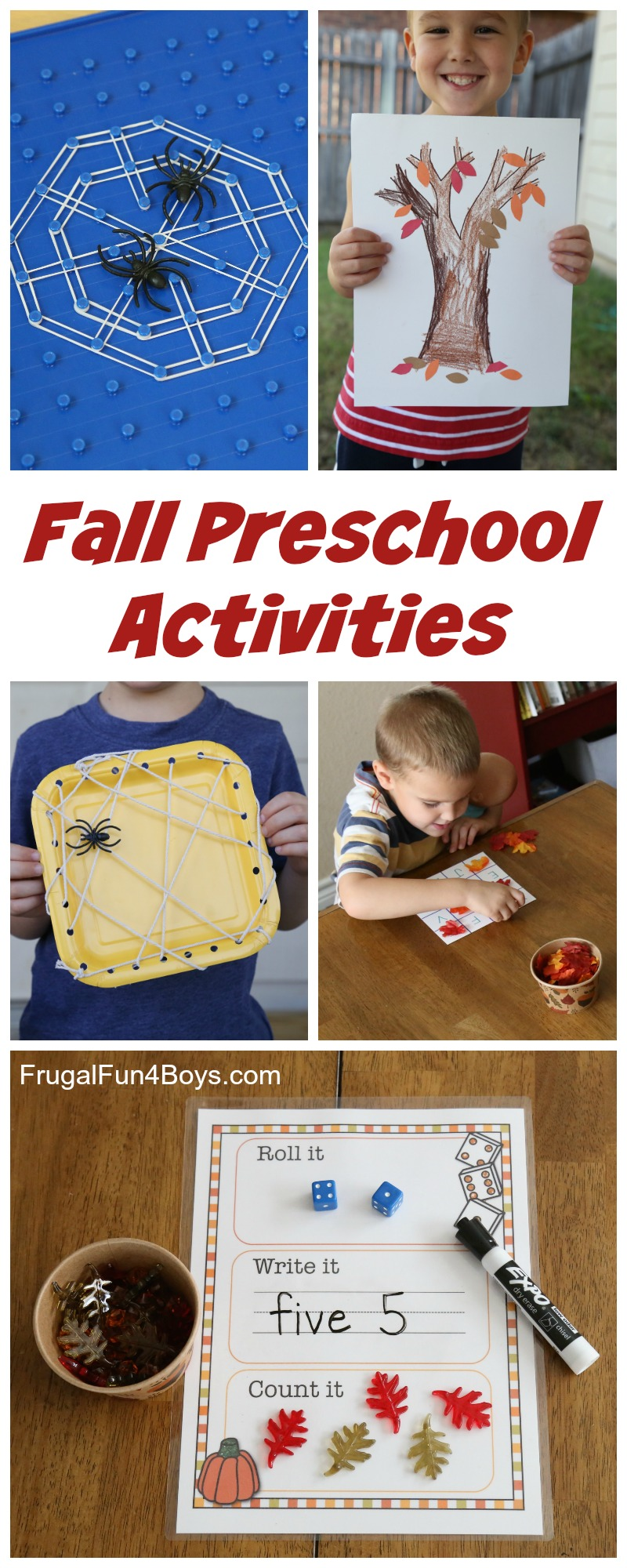 Fall Preschool Activities - Fine Motor, Counting, Letters, and More