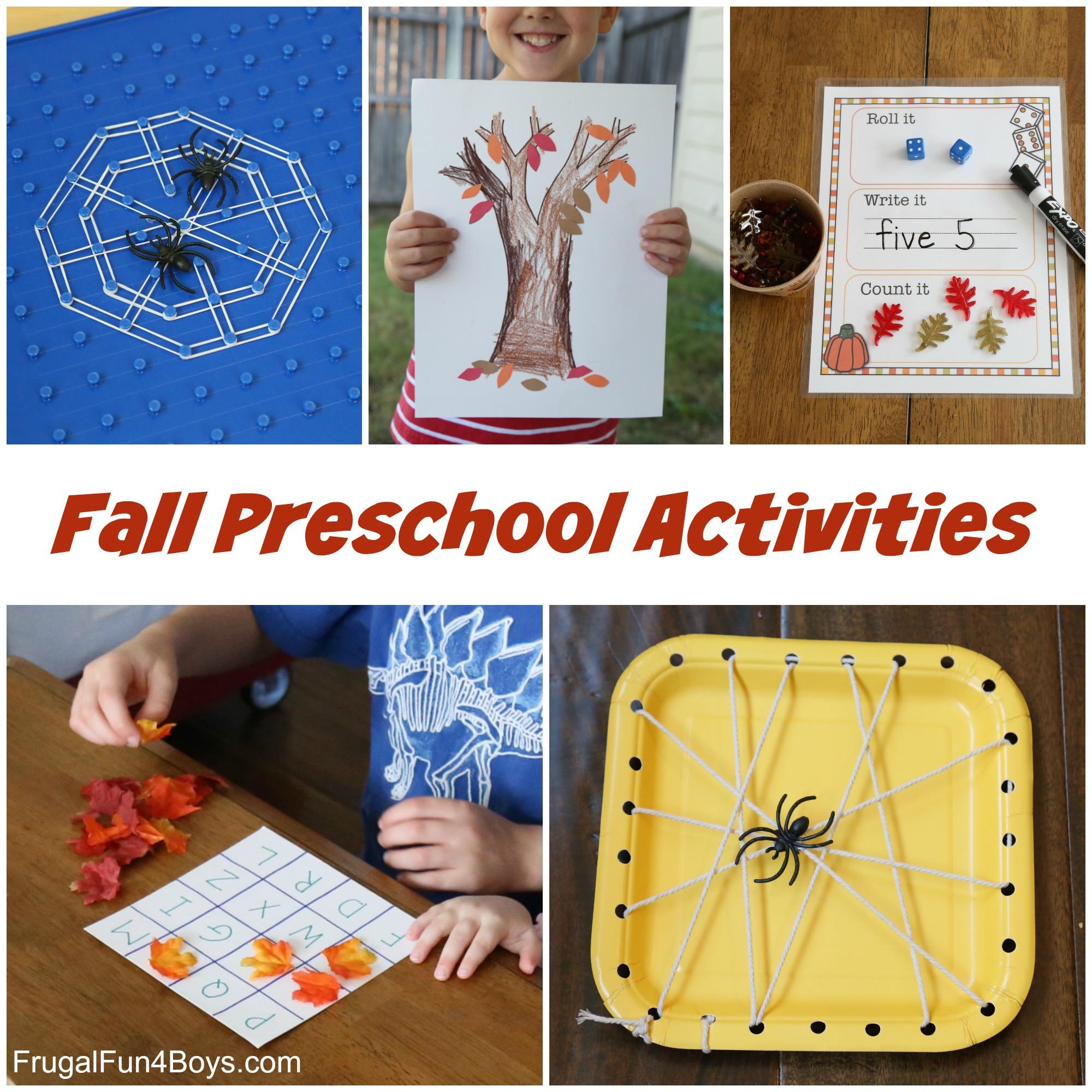 Fall Preschool Activities - Fine Motor, Alphabet, and More