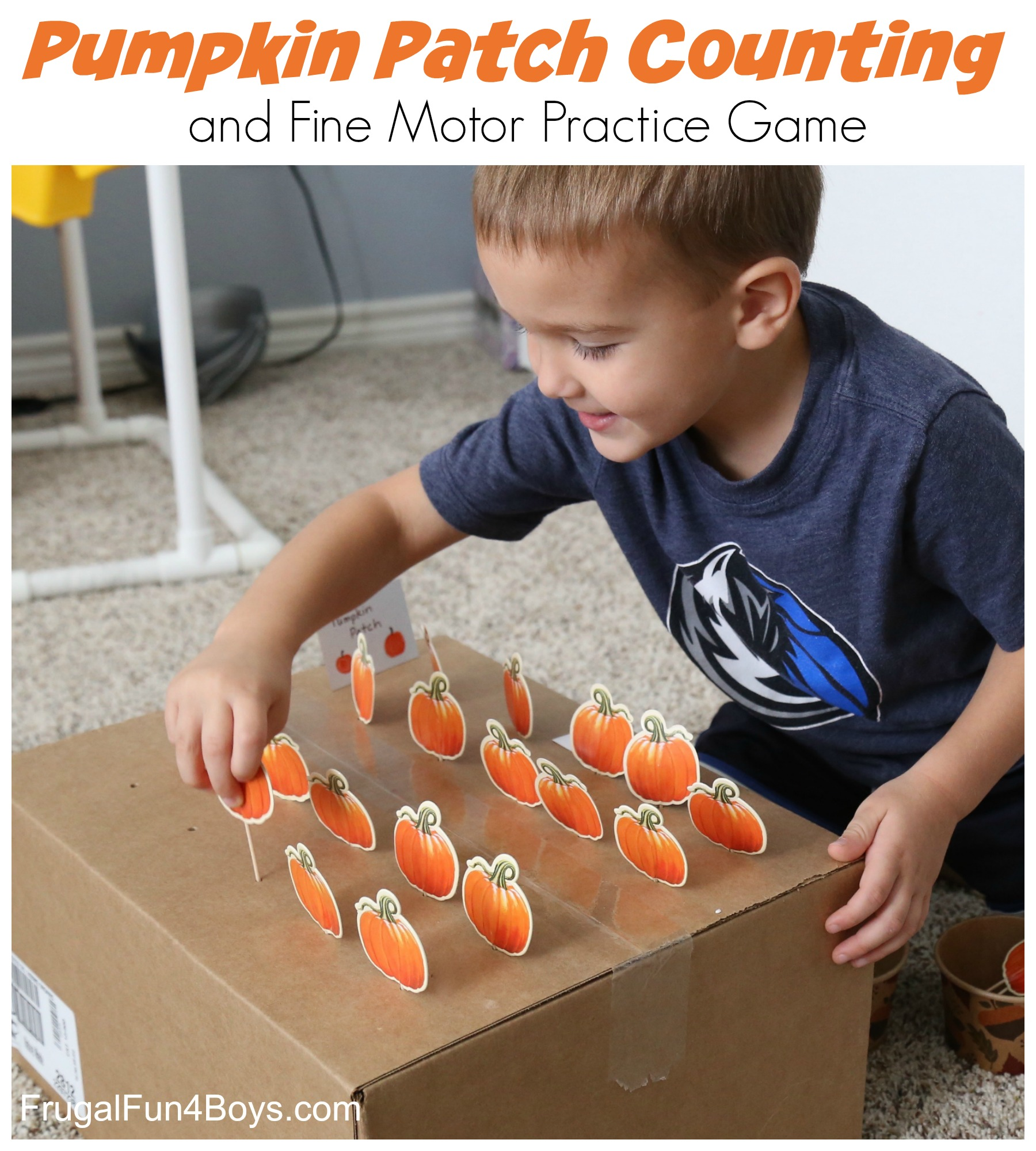 Pumpkin Patch Counting & Fine Motor Practice Game