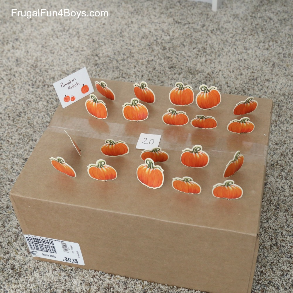 Pumpkin Patch Counting & Fine Motor Game