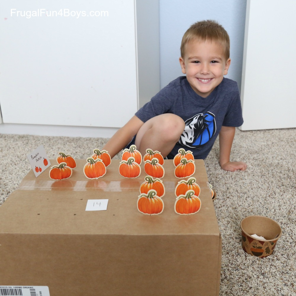 Pumpkin Patch Fine Motor Counting Activity