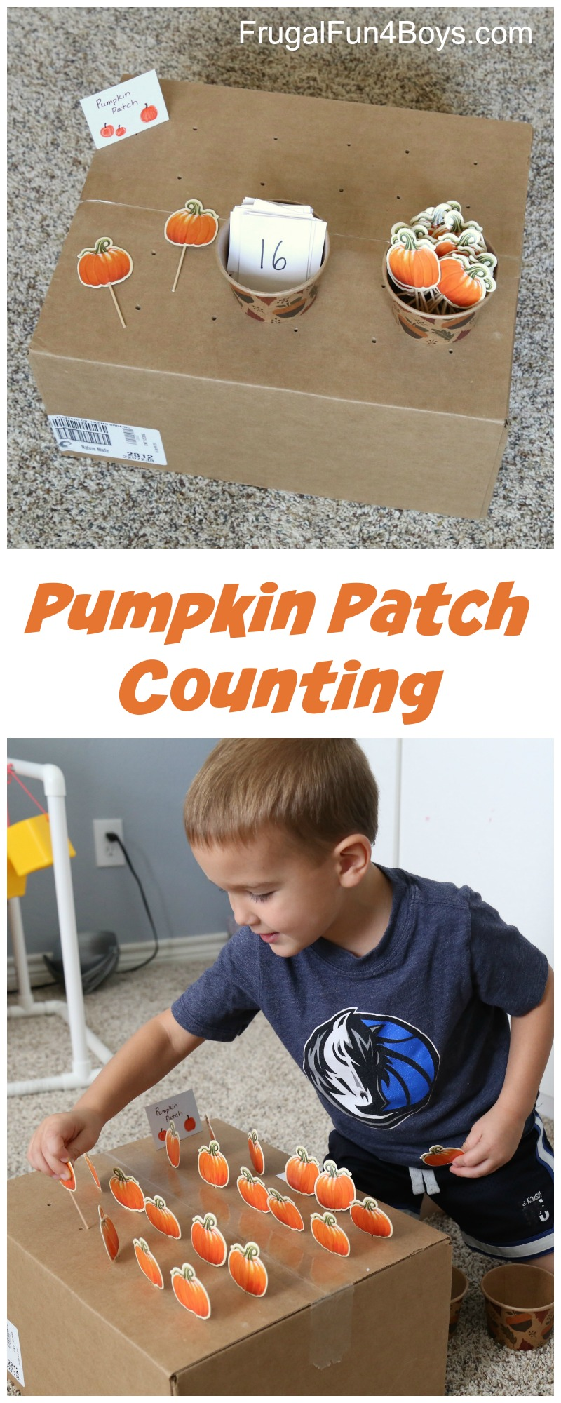Pumpkin Patch Counting and Fine Motor Activity