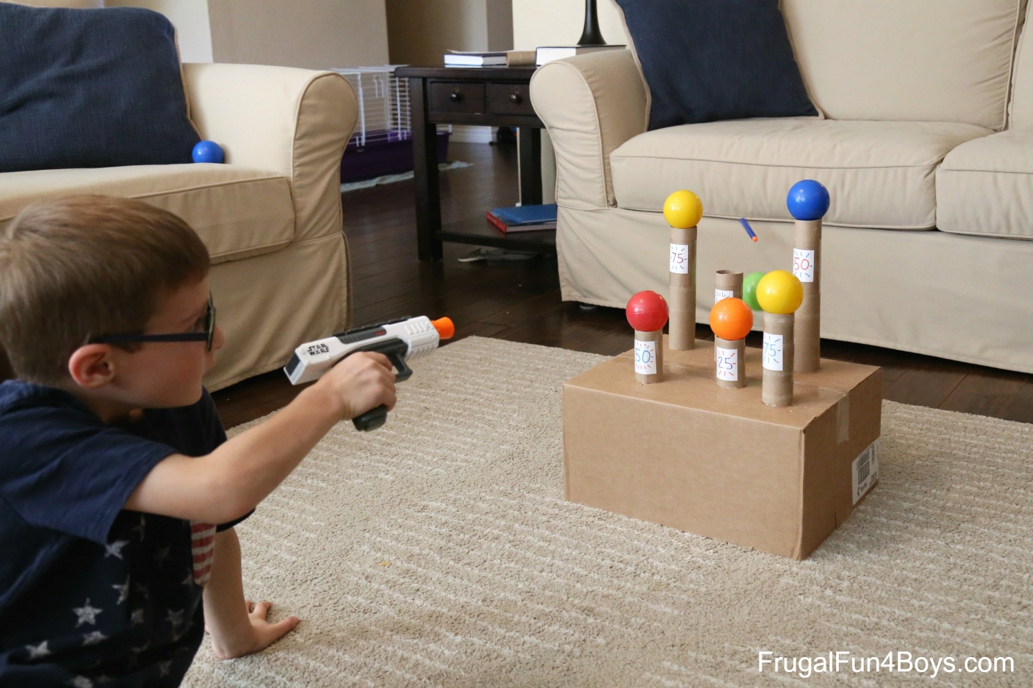 Knock the Balls! Nerf Game