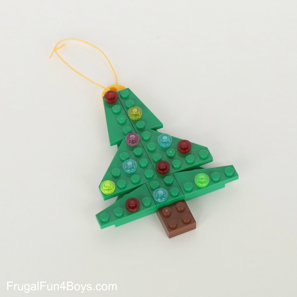 Five LEGO Ornaments with Building Instructions