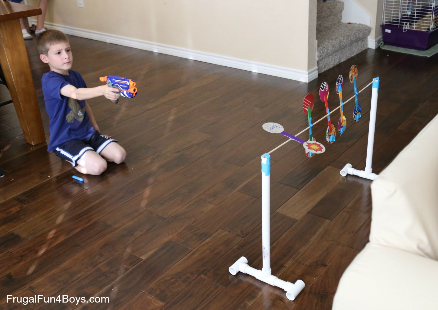 How to Make Nerf Spinning Targets