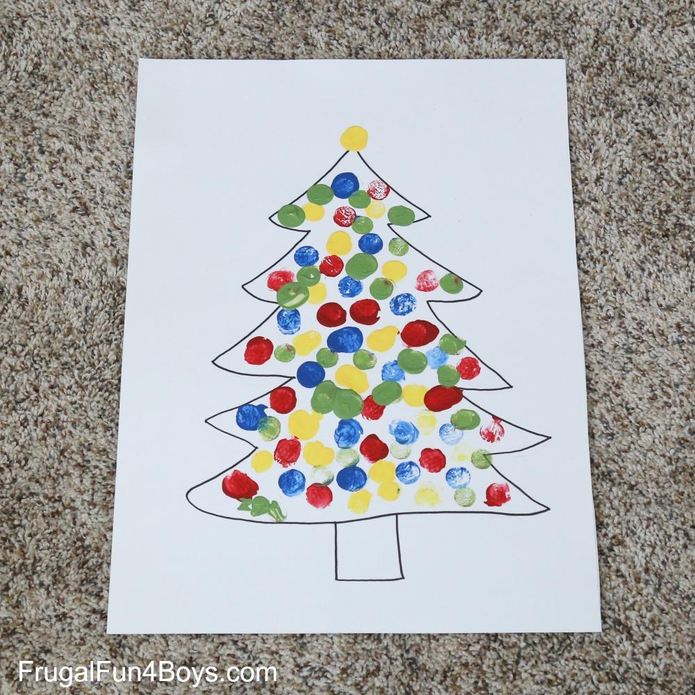 Cork Stamping Christmas Lights