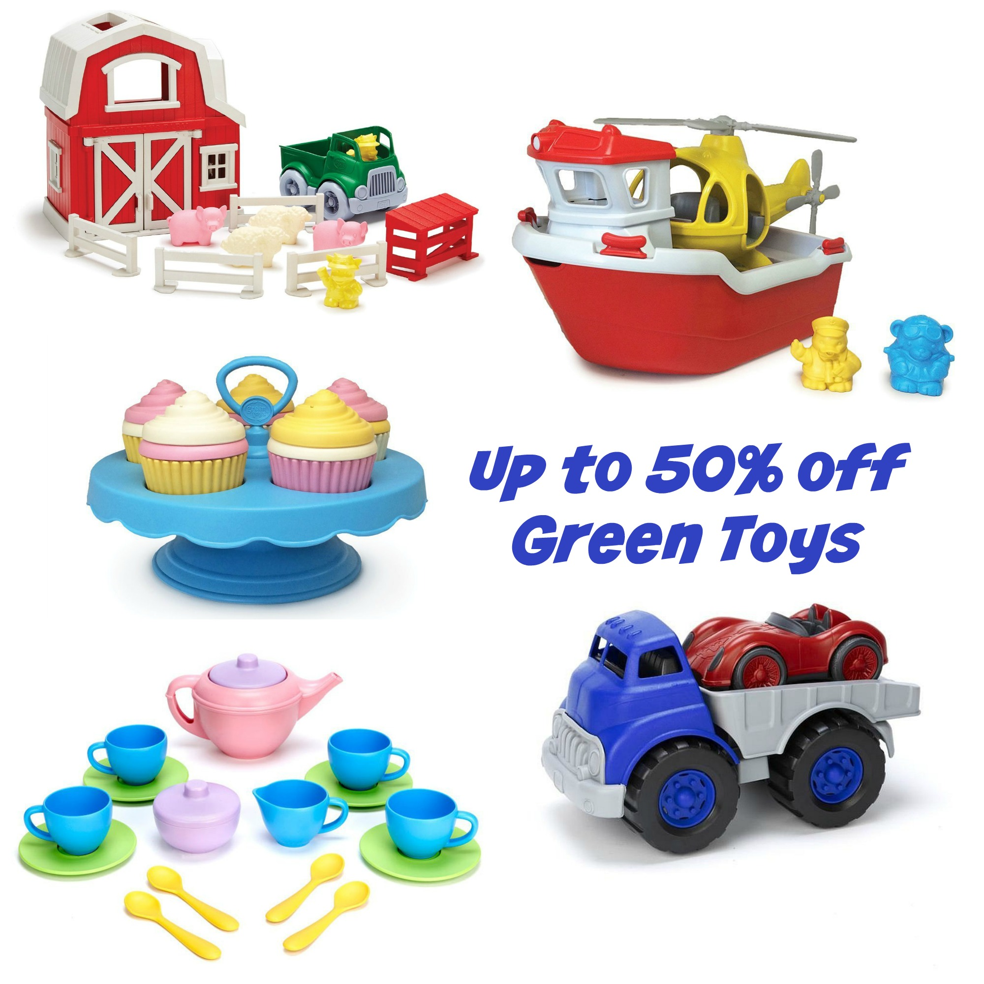 50% off Green Toys
