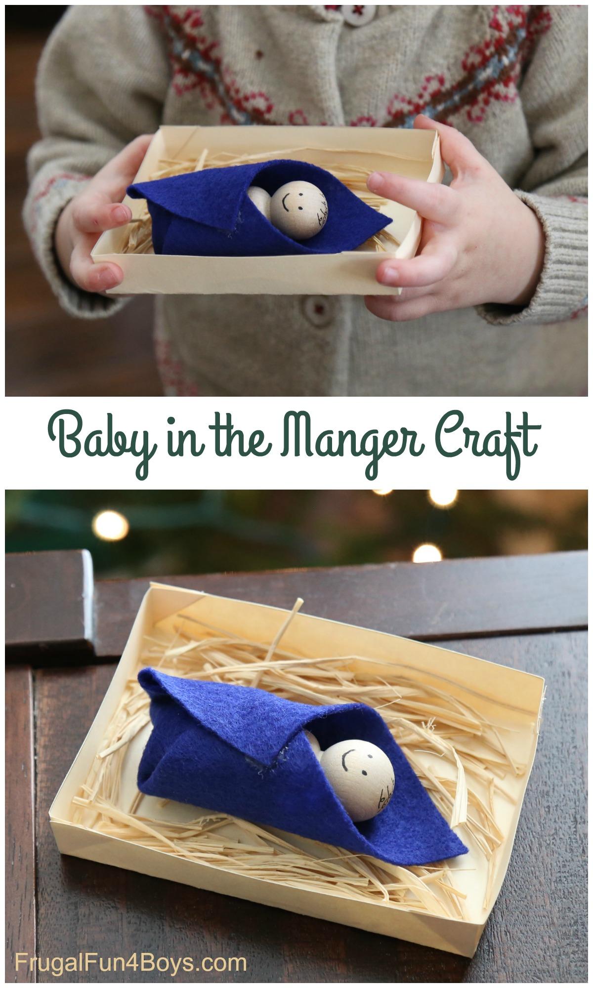Sweet Manger Christmas Craft for Preschoolers