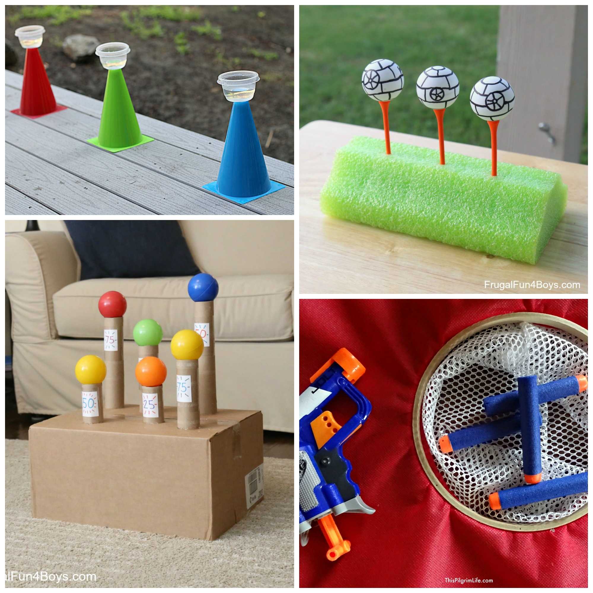 Super Awesome Nerf Target Games to Make